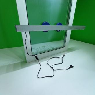 Фитолампа для выращивания рассады на окне.  Фитосветильник на присосках для подоконника.